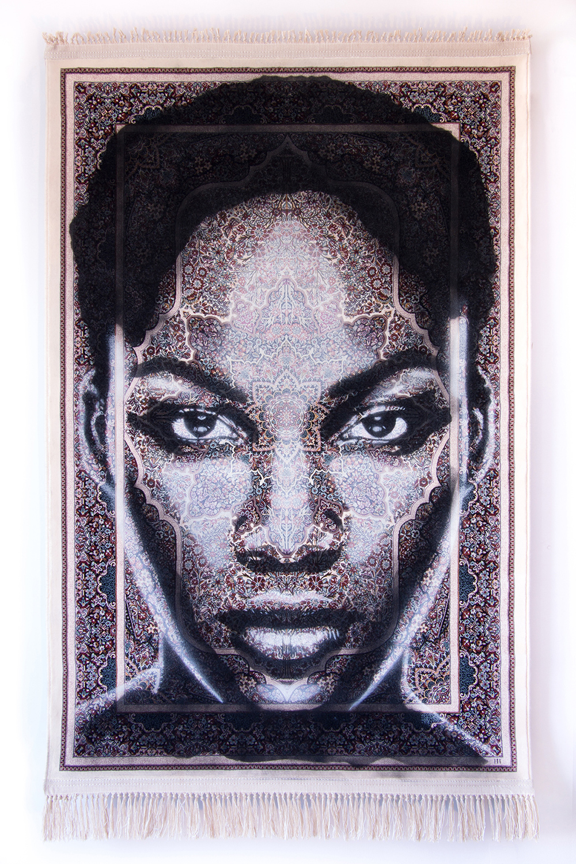 SAPO ALVARIUS  - Spray paint on Traditional Carpet / 150x100 cm / 2018