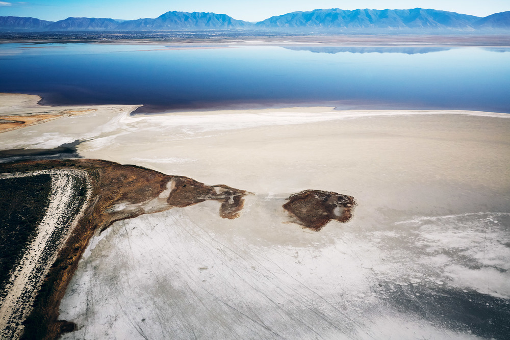 Aerial Photography Derek Israelsen Great Salt Lake Mountains