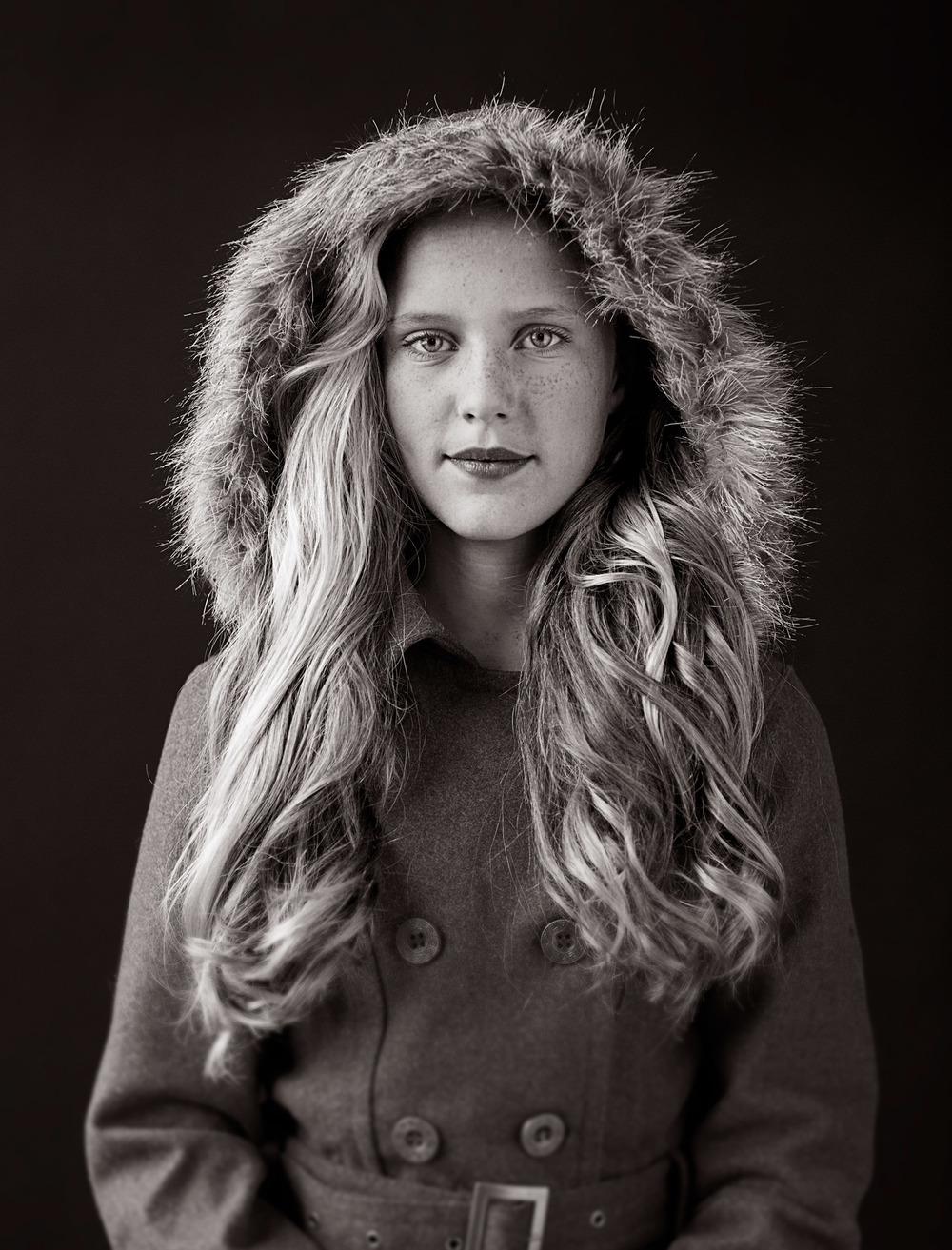 Portrait Photography Derek Israelsen Kid Hood Coat