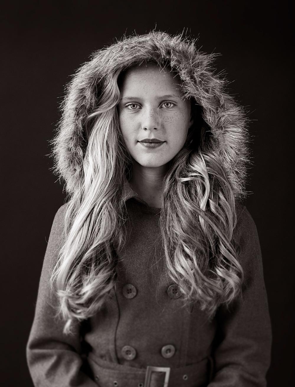 Portrait Photography Derek Israelsen Kid Hood Coat