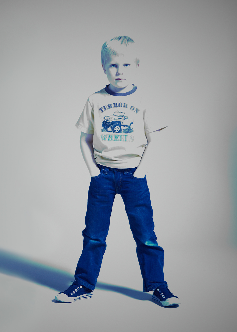Portrait Photography Derek Israelsen Kid in Blue