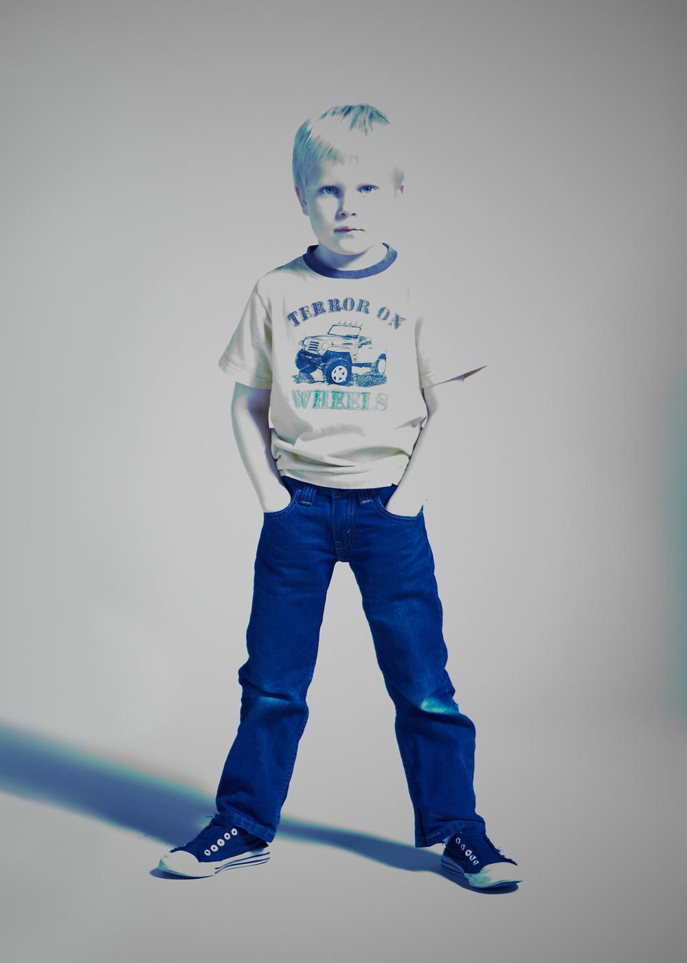 Portrait Photography Derek Israelsen Kid in Blue