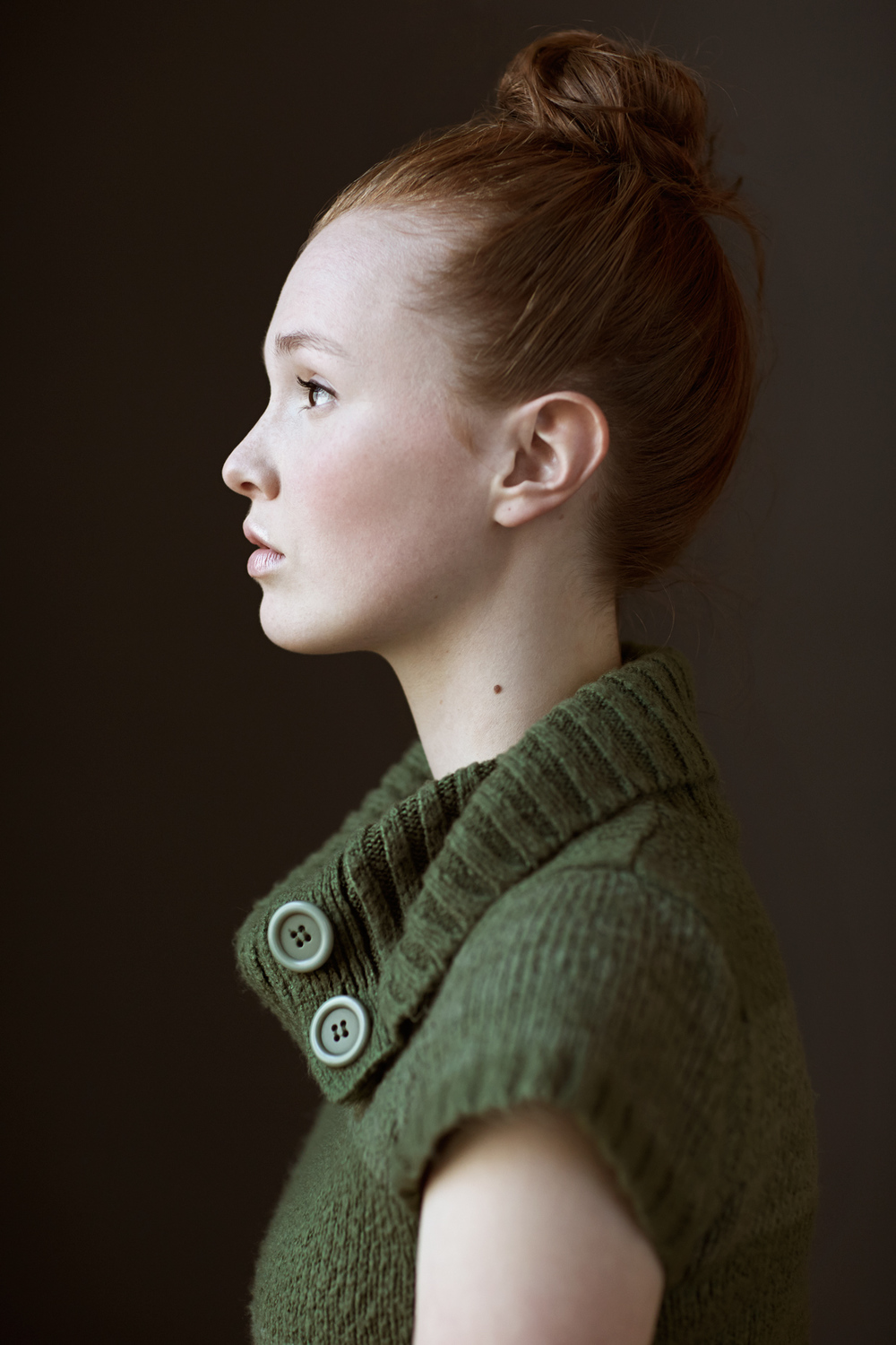 Portrait Photography Derek Israelsen Girl Side Profile