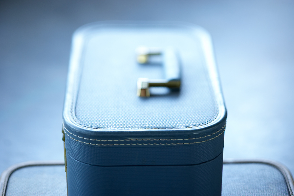 Product Photography Still Life Derek Israelsen Blue Suitcase