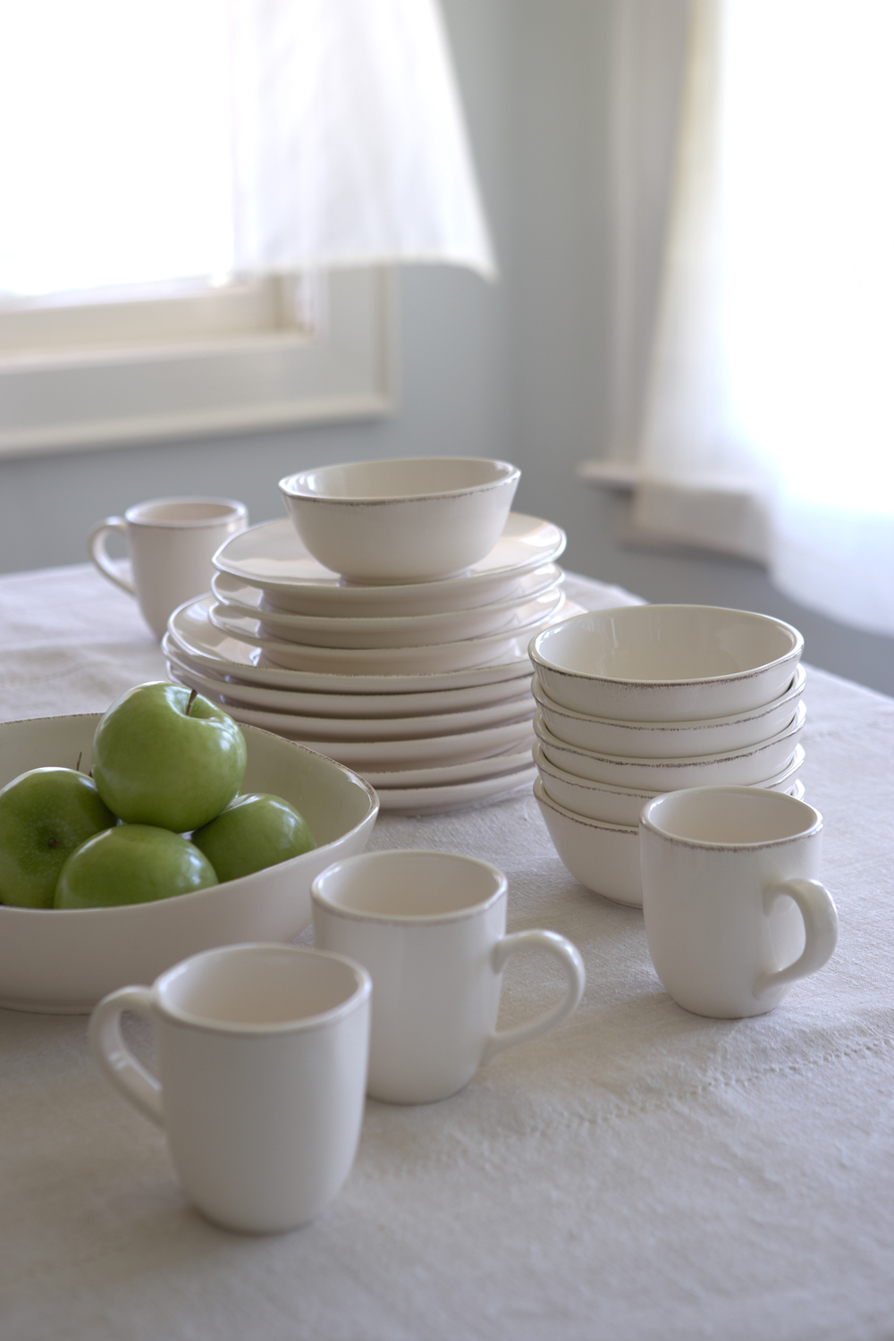 Product Photography StillLife Derek Israelsen Apples Dinnerware