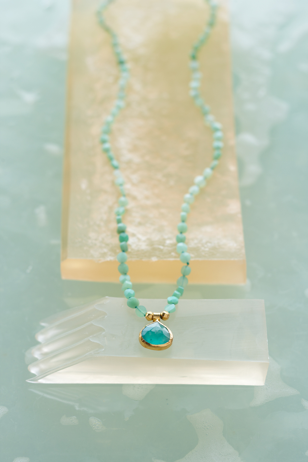Product photography Jewelry Derek Israelsen Turquoise Necklace