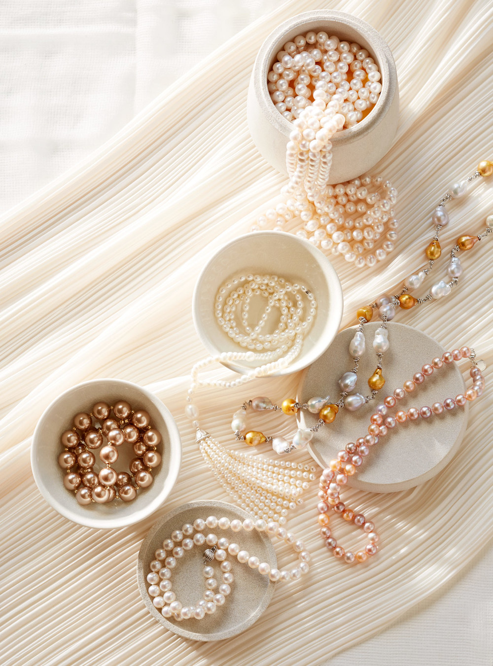 Product photography Jewelry Derek Israelsen Pearls Everywhere