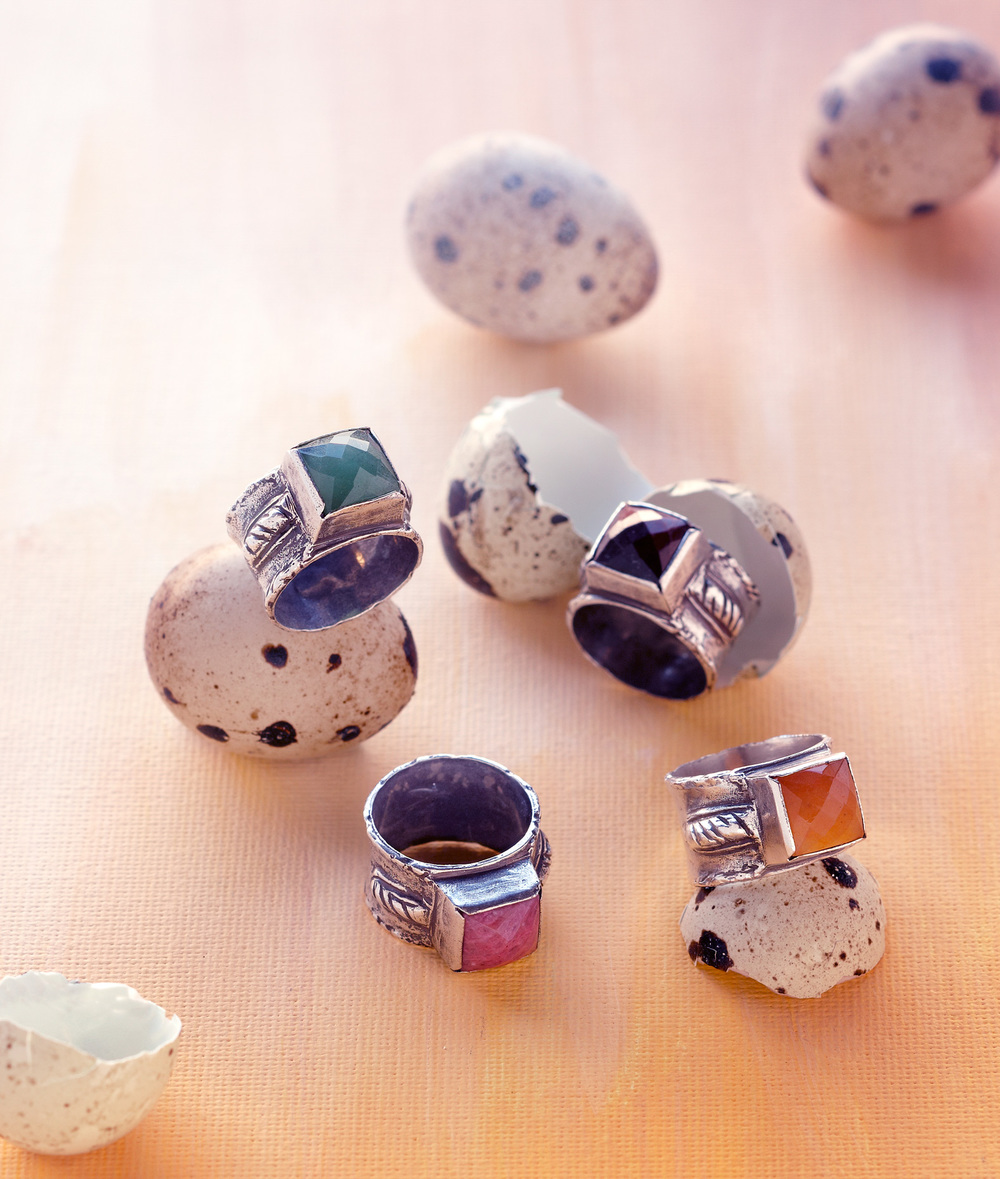 Product photography Jewelry Derek Israelsen Rings Eggs