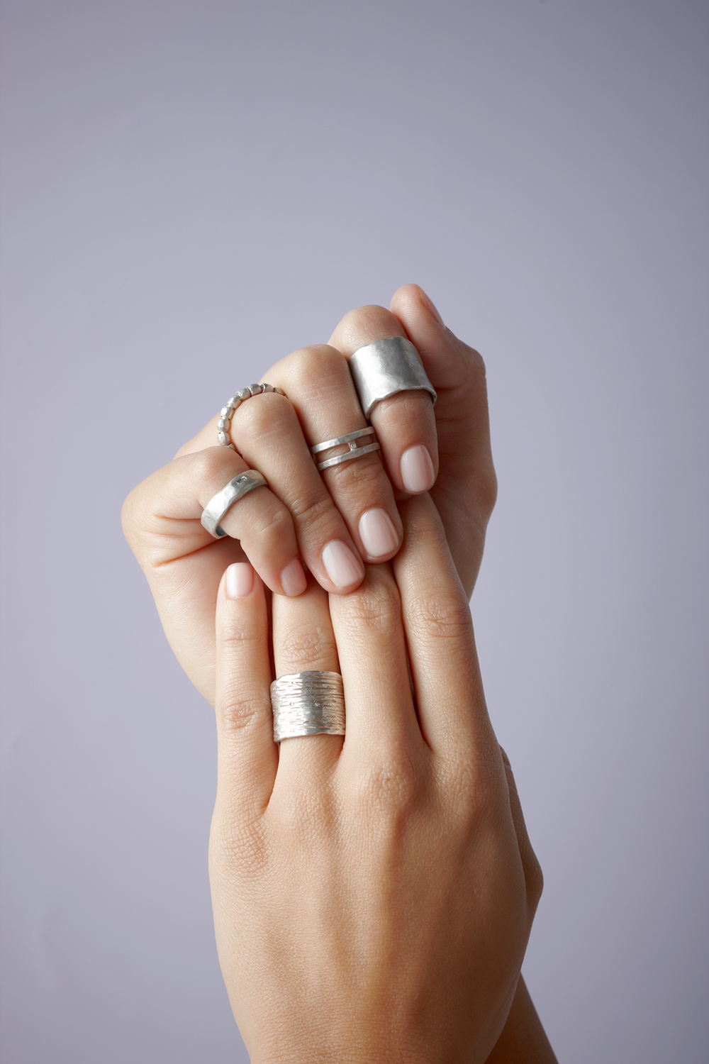 Product photography Jewelry Derek Israelsen Silver Rings