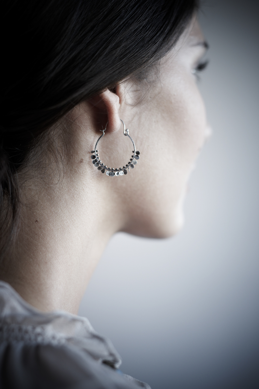 Product photography Jewelry Derek Israelsen Fan Earrings
