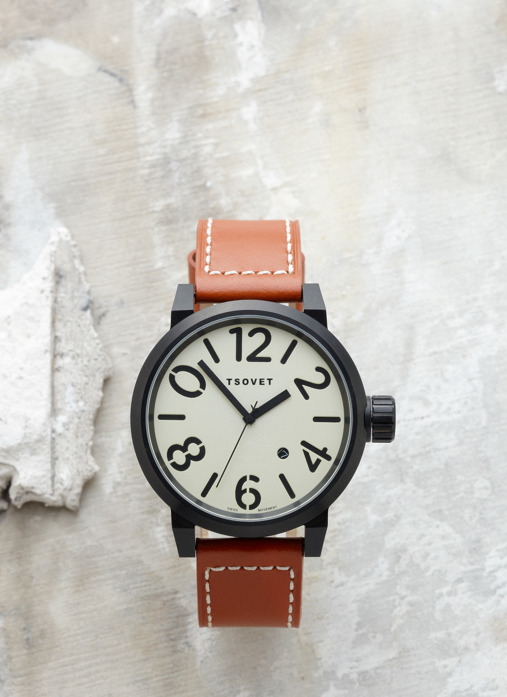 Product photography Jewelry Derek Israelsen Brown Leather Watch