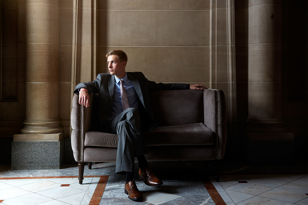 Portrait Photography Derek Israelsen Couch Business Man