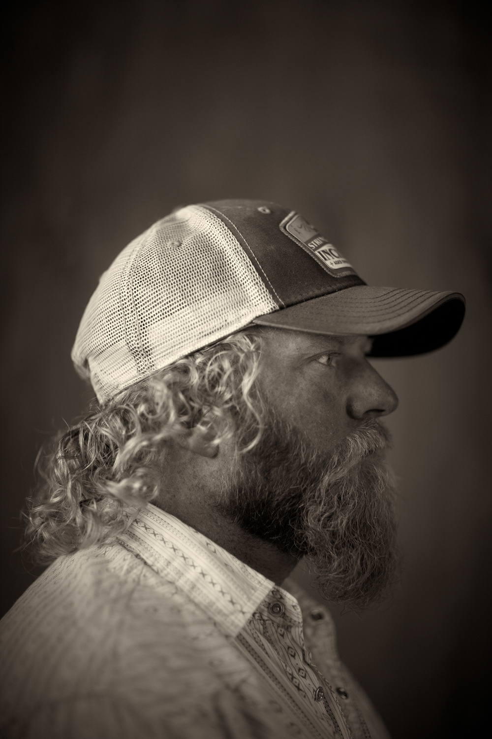 Portrait Photography Derek Israelsen Trucker Profile