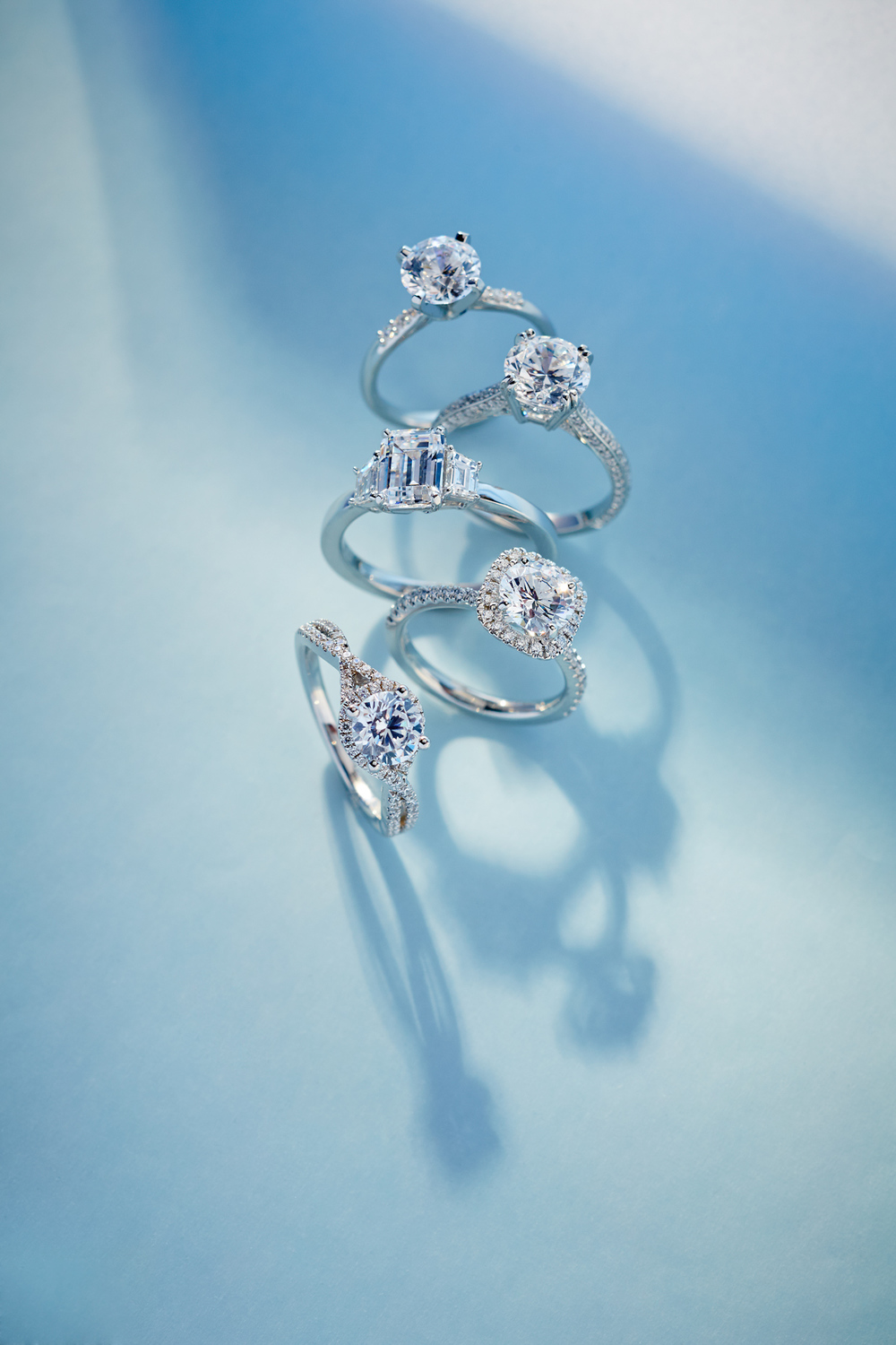 Product photography Jewelry Derek Israelsen Diamond Rings