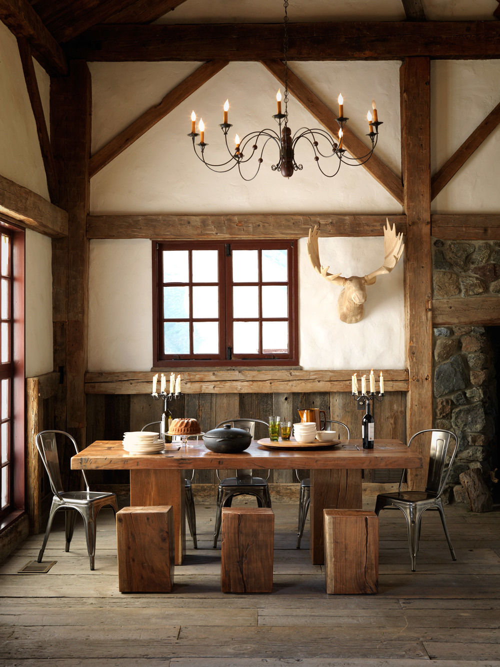 Product Photography Spaces Derek Israelsen Rustic Lodge Dining