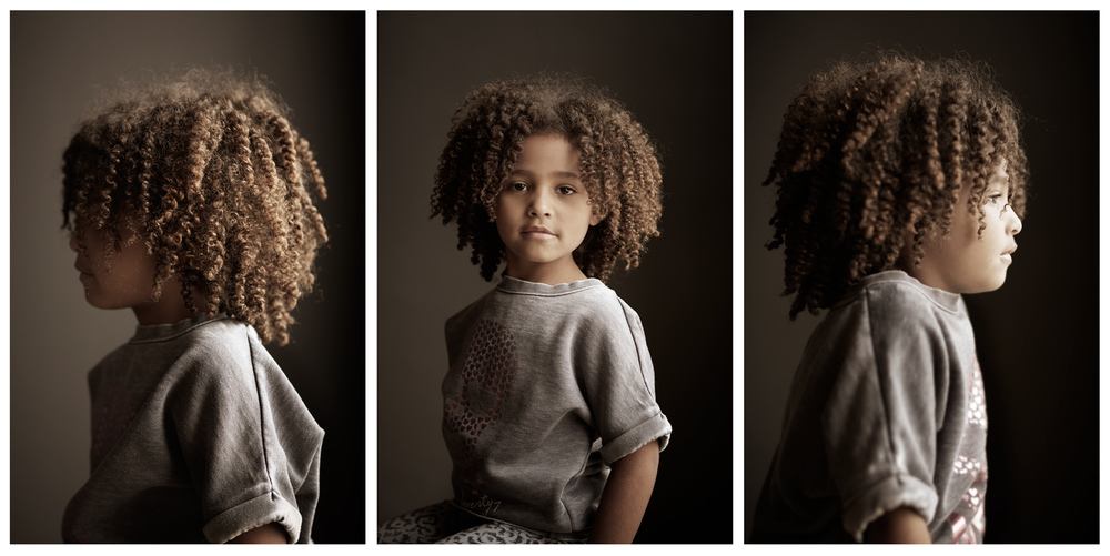 Portrait Photography Derek Israelsen Profile Kid Natural Hair Triptych
