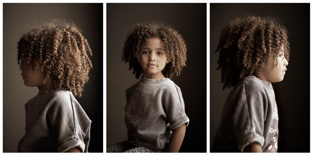 Portrait Photography Derek Israelsen Profile Kid Natural Hair Triptych