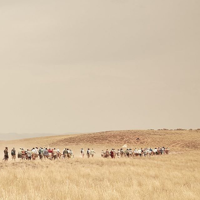 Pioneer Trek, 2018.  4 days 30 miles, pushing handcarts with gear inside. wind, dust, heat. Luckily no rain. Great experience for all.  It was great to see youth do very challenging things.
