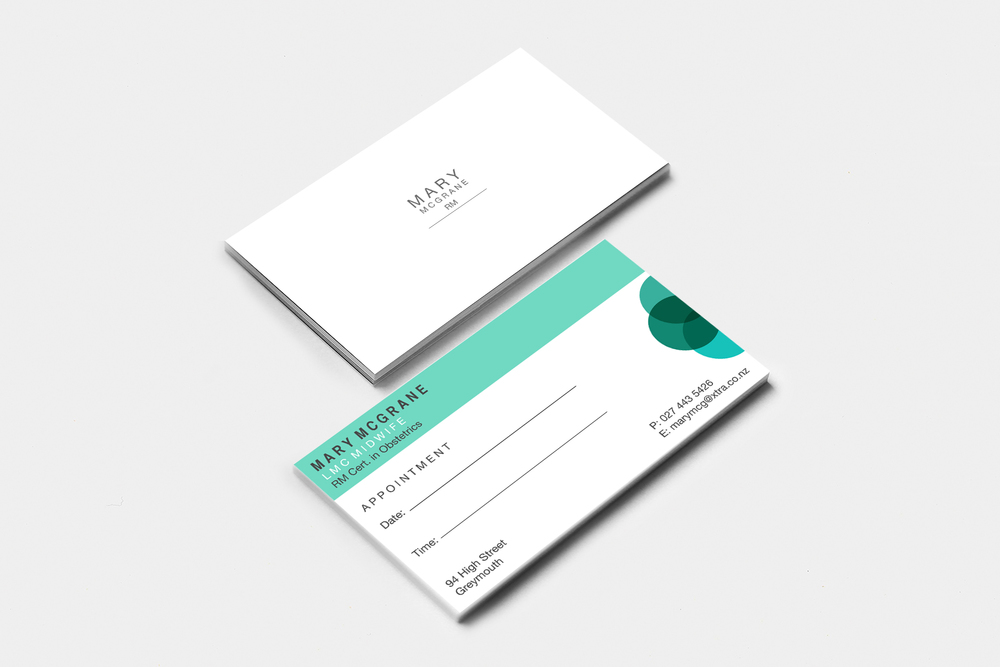 Mary McGrane Appointment Card Design