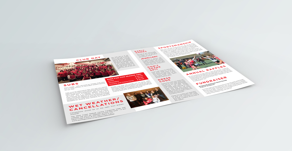 Cobden Netball Newsletter Design
