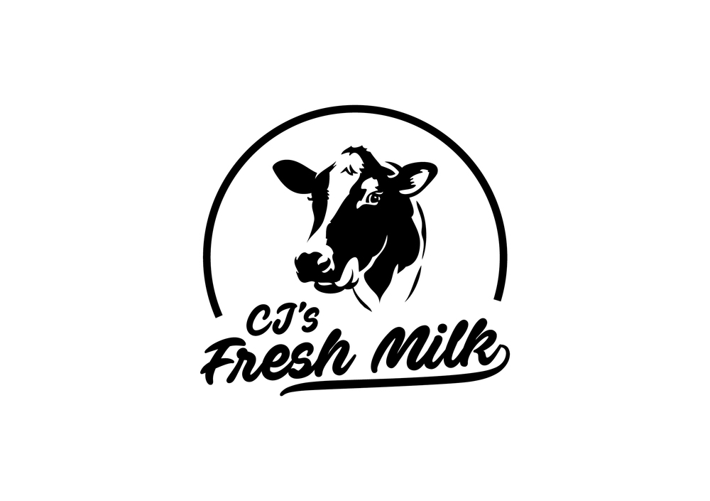 CJ's Fresh Milk Logo Design