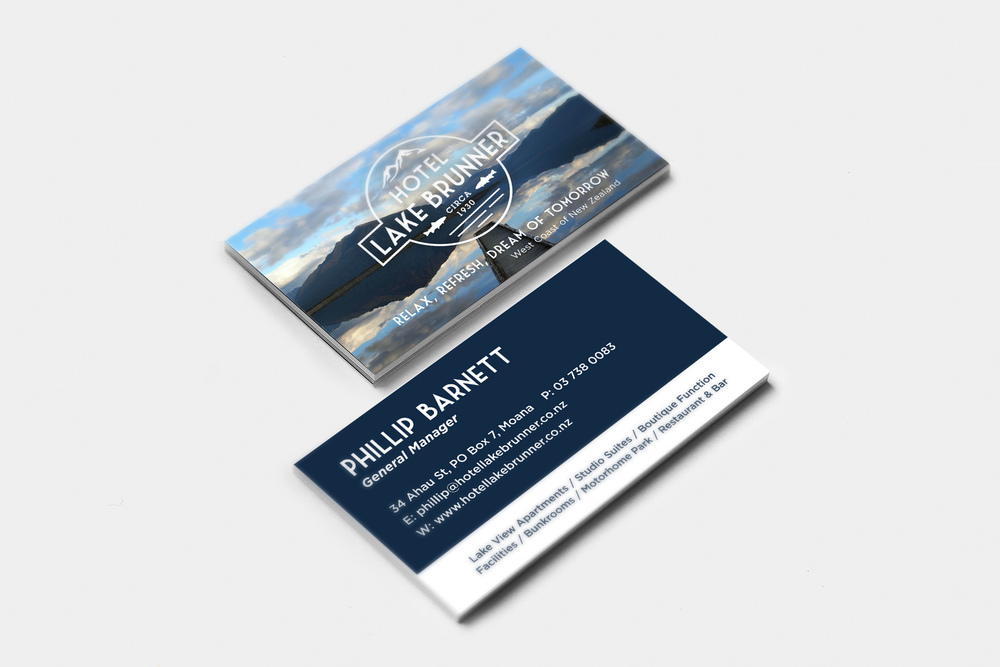 Hotel Lake Brunner Business Card Design