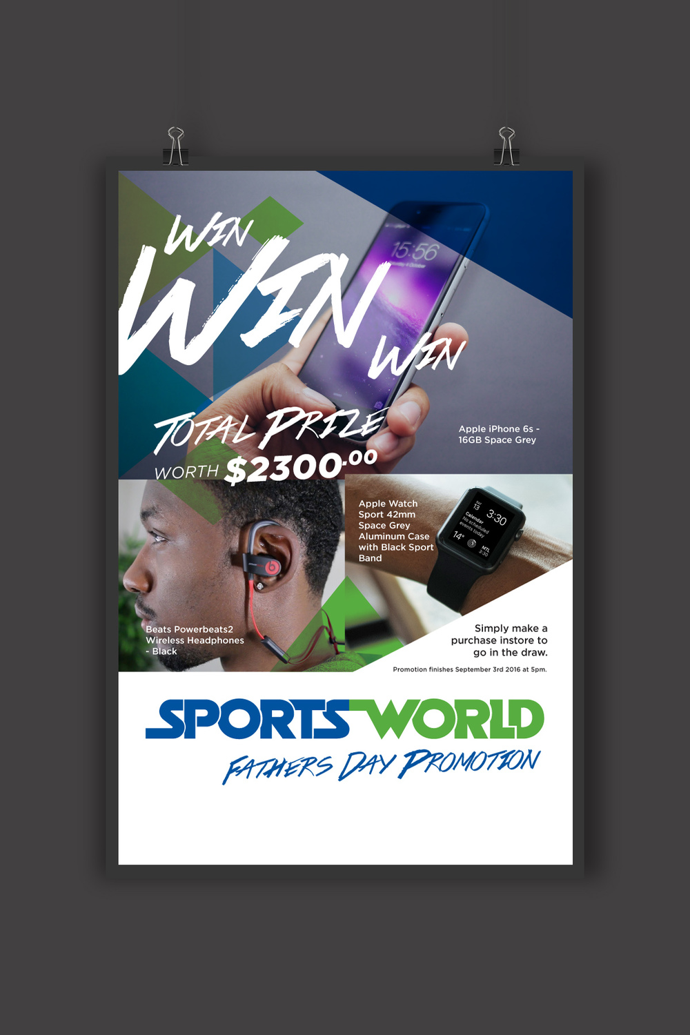 Coll's Sportsworld Fathers Day Promotional Poster Desgin