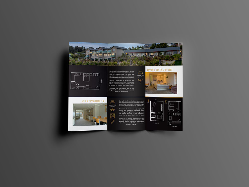 Hotel Lake Brunner Tri Fold Brochure Back