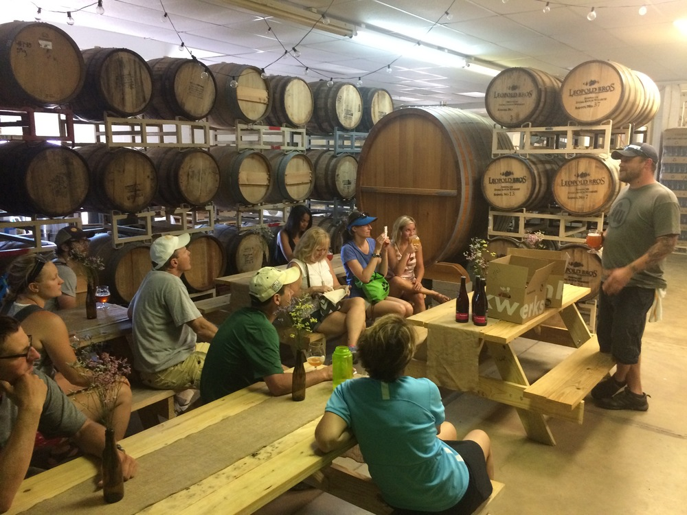 Funkwerks Barrel Room with Brewmaster Mark