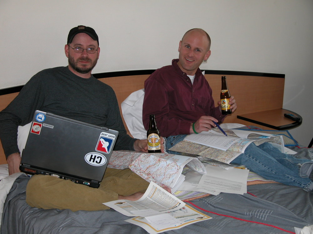 Vintage Belgium map session while in Kortrijk in 2007 - yes we have been at it that long.