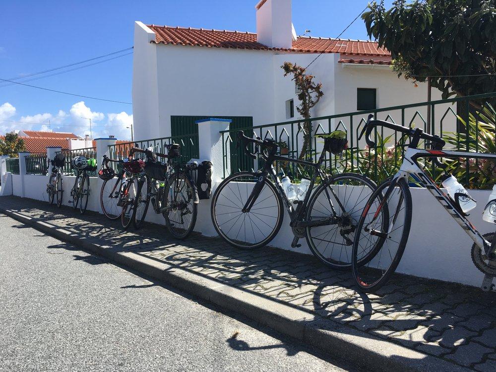 bikes near a wall.jpg