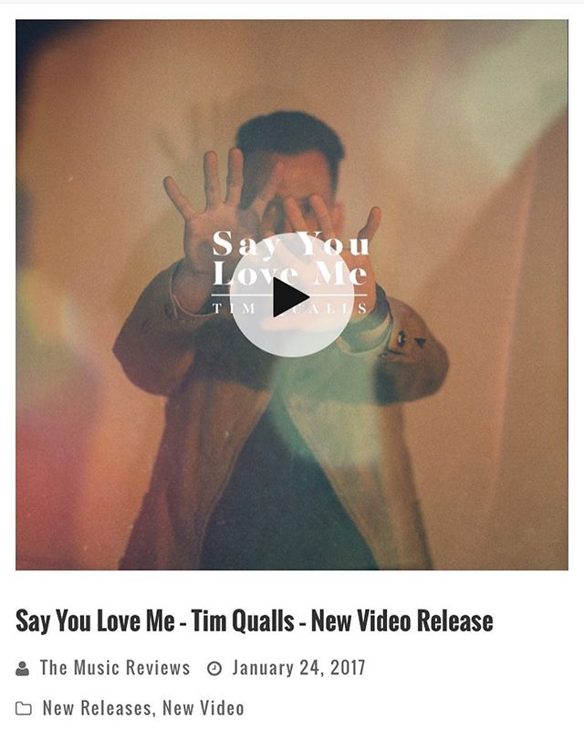 "My friends over at themusic.reviews said some kind things about the work that @justinbetancourt did on the ""Say You Love Me"" music video. You can read it on my instastory or check my website to read the full story."