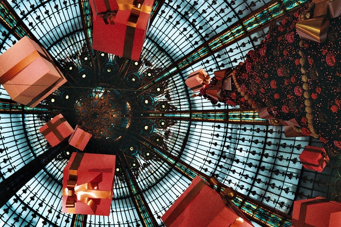 Dome of the  Galeries Lafayette,  Paris, Christmas 2010.