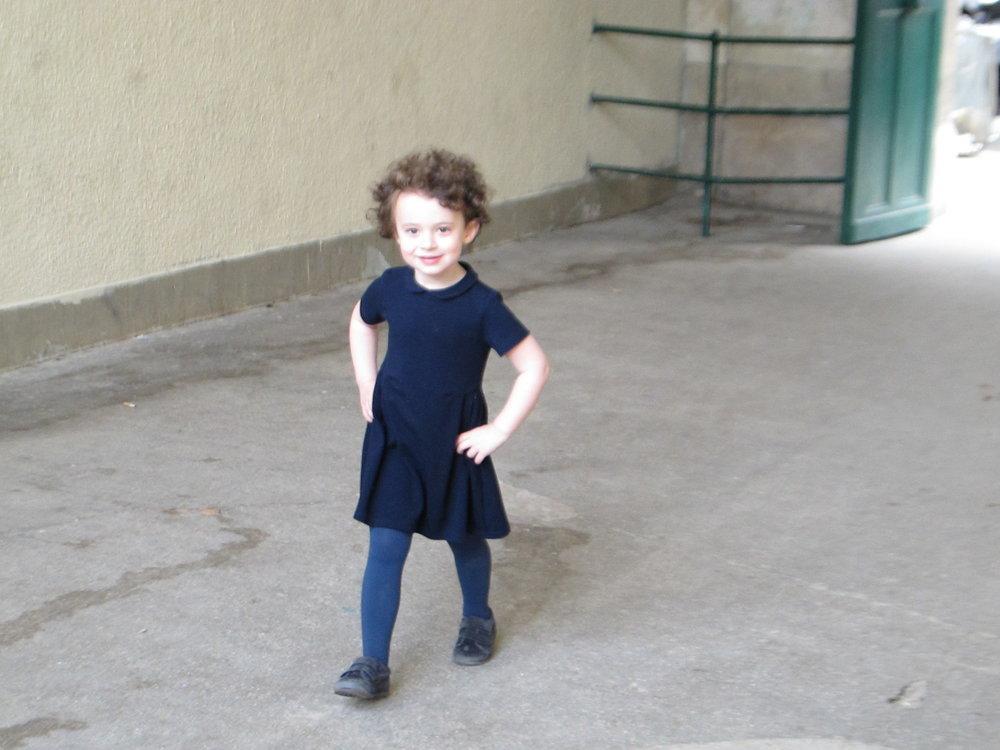 A young Parisienne visiting the  Arènes de Lutèce .