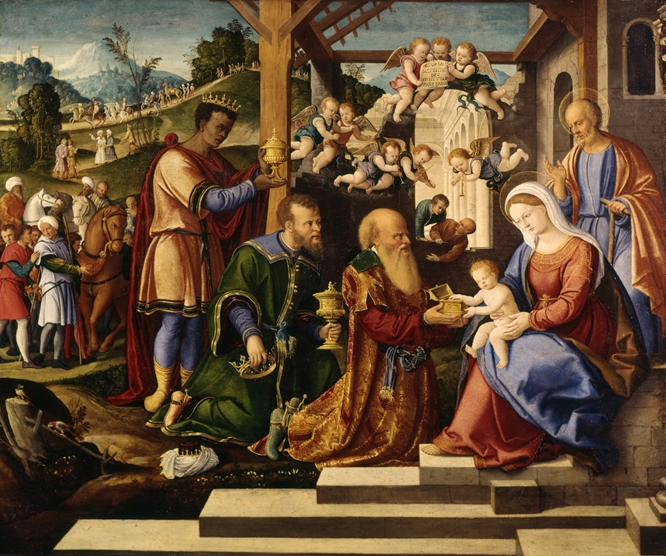 Girolamo da Santacroce - The Adoration of the Three Kings