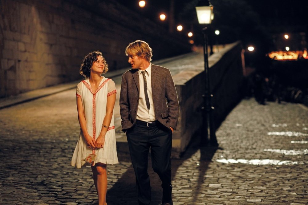 Marion Cotillard and Owen Wilson in Woody Allen's  Midnight in Paris .