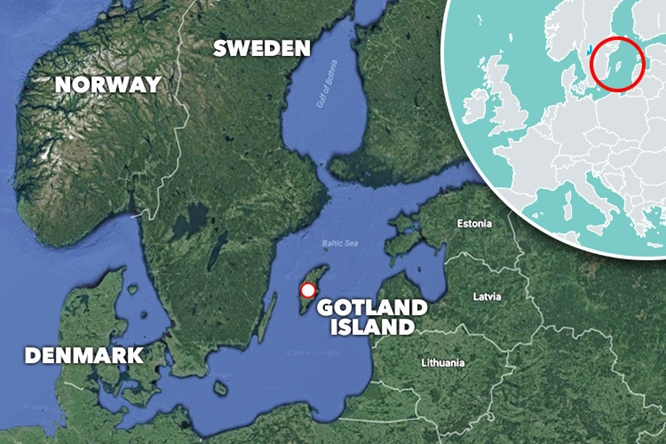 Gotland Island, part of Sweden, sits in the middle of the Baltic Sea south of Stockholm.