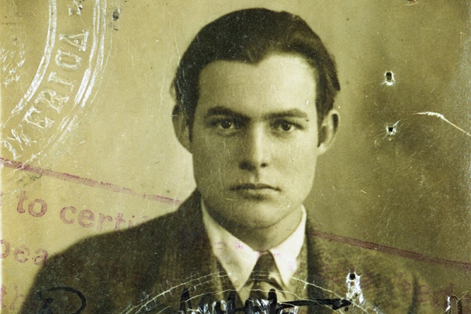 Ernest Hemingway's passport photo ca. 1921.