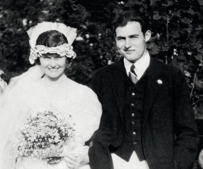 Wedding photo of Hemingway and Hadley Richardson 1921.