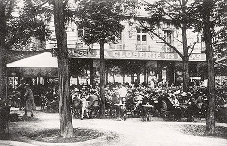 La Closerie des Lilas,  Hemingway's favorite café, 1920s.