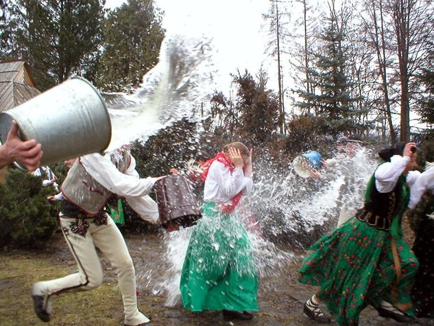 Polish people enjoying April Fool's Day