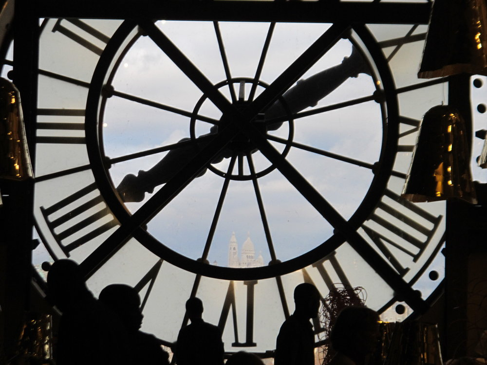 View of Sacré Coeur in Montmartre from the clock face of the Musée d'Orsay, formerly the Gare d'Orsay train station. Photo: Elizabeth Kemble
