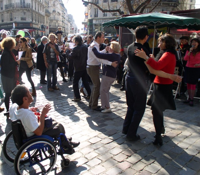 Dancing and singing every Sunday in the Square St.-Médard. Join us there! Photo courtesy From Paris With Love.
