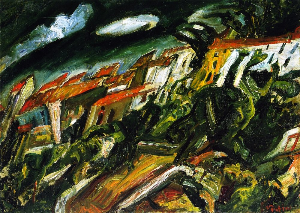 View of Céret, Chaim Soutine. Note Pont du Diable in foreground.