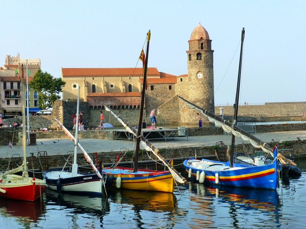 Boats in the Port of Collioure.