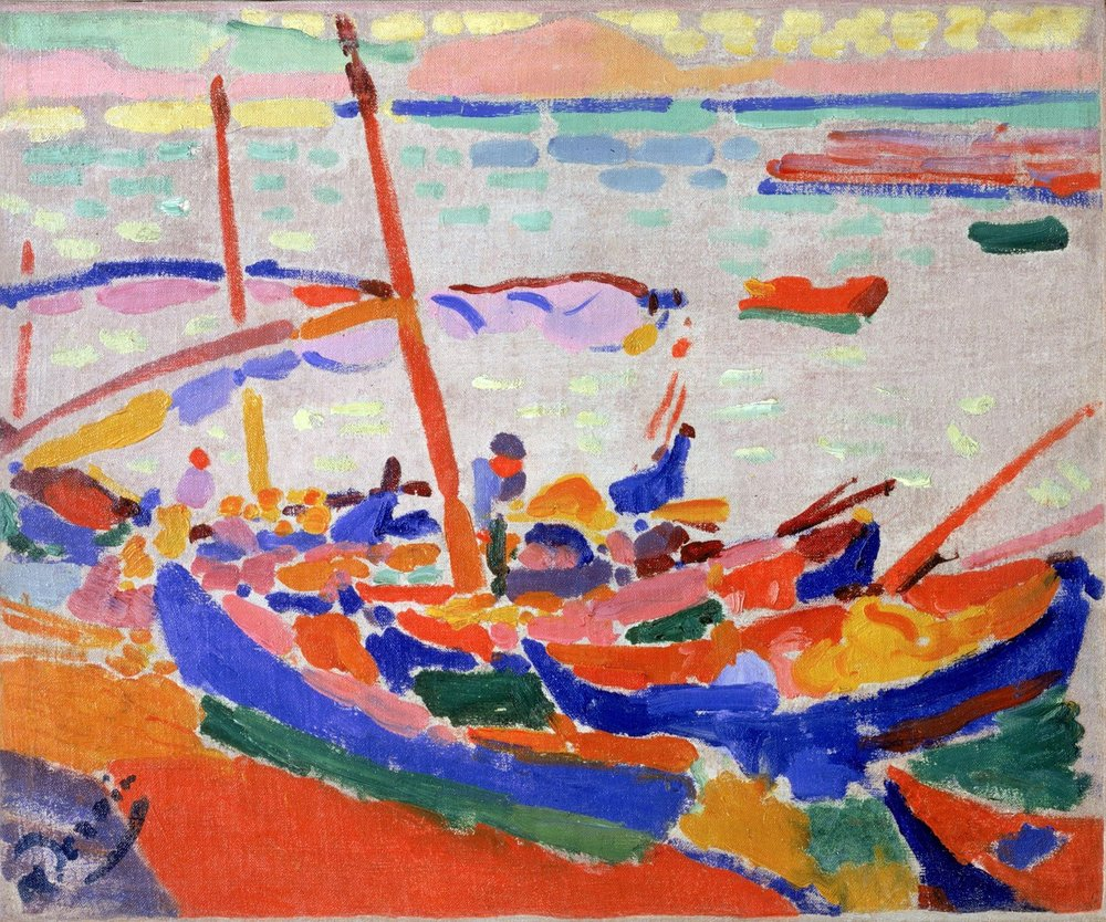 French fishing boats, Collioure, André Derain