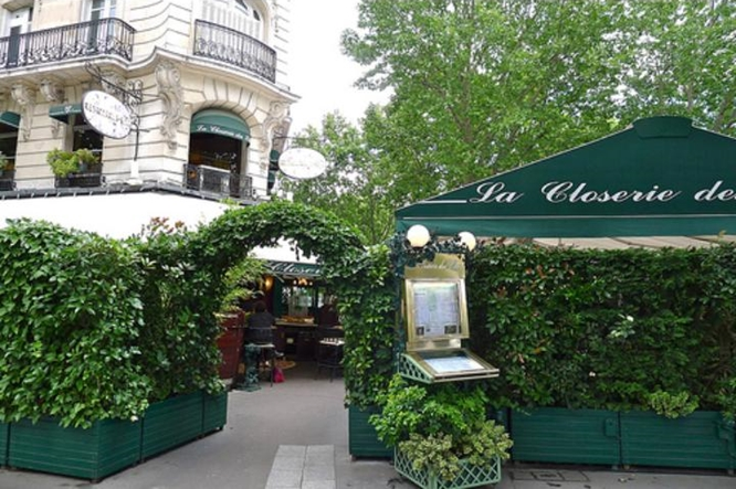 La Closerie des Lilas, Paris. This was Hemingway's favorite café, and now is a brasserie on the terrasse and a restaurant inside. Photo: Elizabeth Kemble.