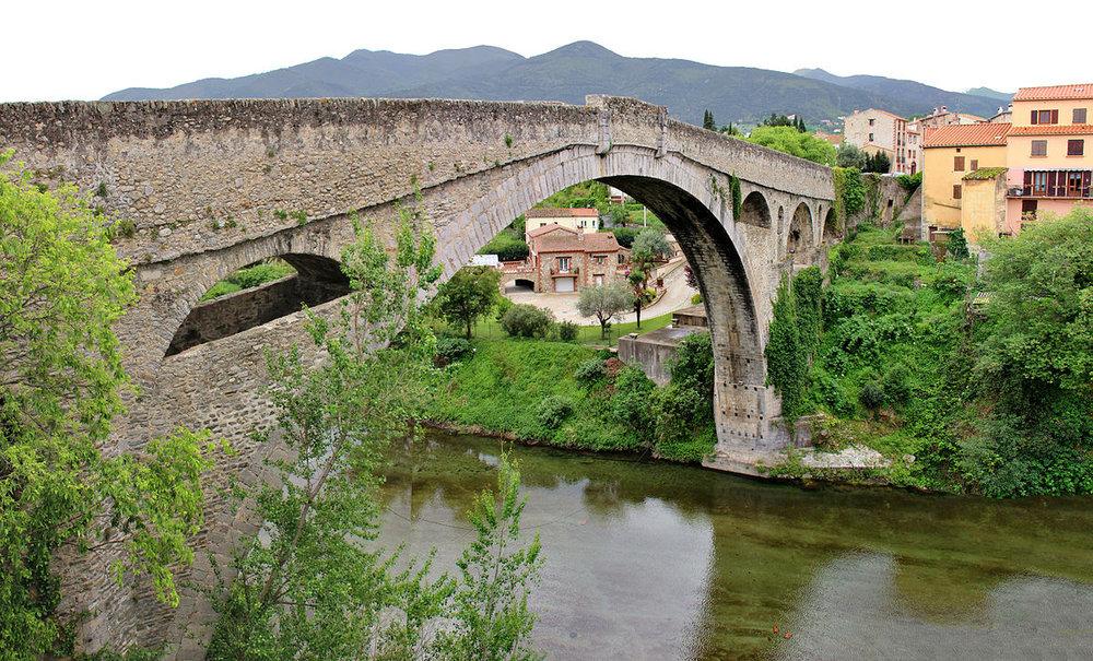 The Pont du Diable (Devil's Bridge) in Céret.