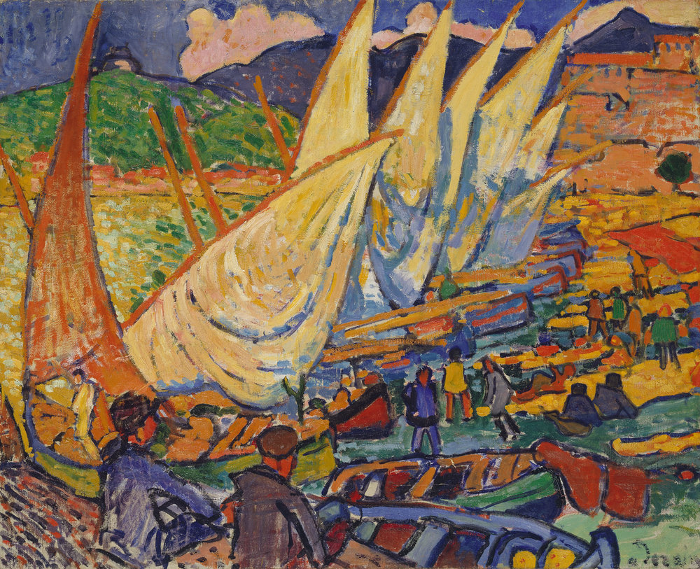 Fishing boats, Collioure, Derain.