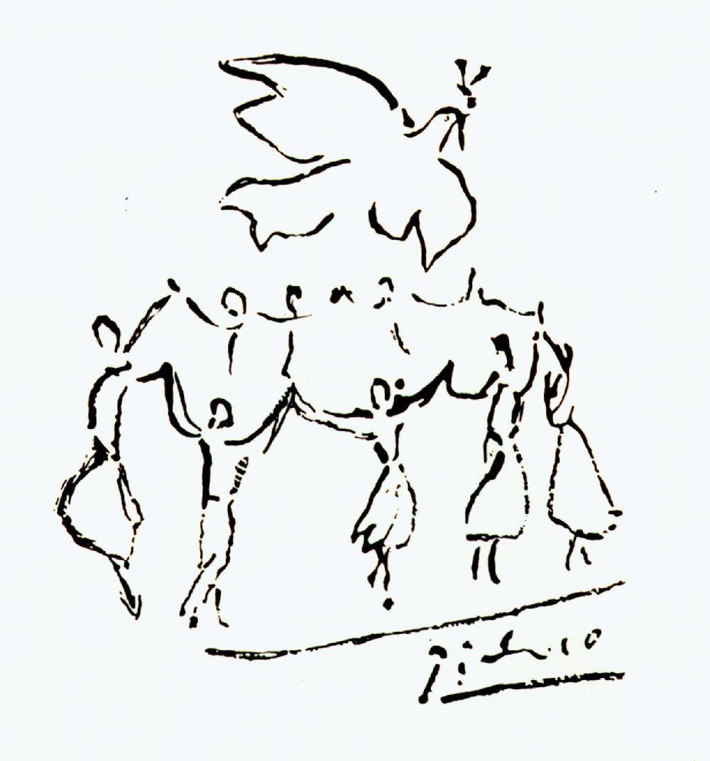 La Sardane de la Paix, Picasso.